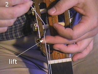 Stringing a guitar picture 2