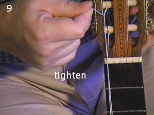 Stringing a guitar picture 9
